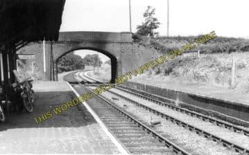 Adderley Railway Station Photo. Market Drayton - Audlem. Natntwich Line. (2)