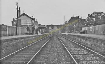Adderley Railway Station Photo. Market Drayton - Audlem. Natntwich Line. (3).