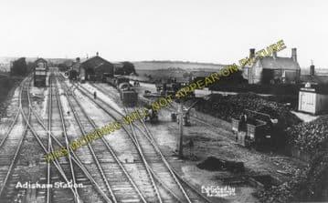 Adisham Railway Station Photo. Shepherdswell - Bekesbourne. Canterbury Line. (4)