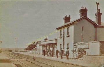 Adisham Railway Station Photo. Shepherdswell - Bekesbourne. Canterbury Line. (6)