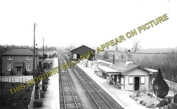 Adlestrop Railway Station Photo. Kingham - Moreton-in-Marsh. (1)..