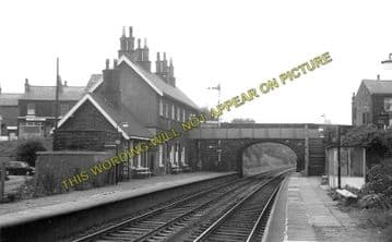 Adlington Railway Station Photo. Chorley - Blackrod. Bolton Line. L&YR. (1)