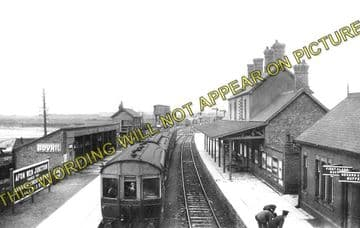 Afonwen Railway Station Photo. Abererch - Criccieth. Pwllheli to Portmadoc. (1)..