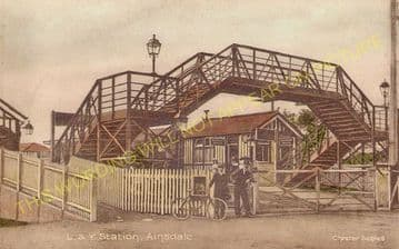 Ainsdale Railway Station Photo. Birkdale - Freshfield. Southport to Formby. (8)