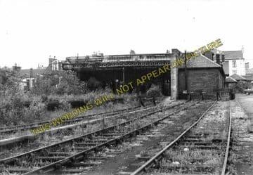 Airdrie East Railway Station Photo. Coatbridge Line. Caledonian Railway. (2)..