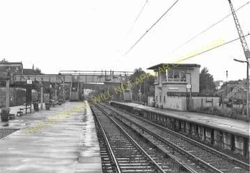 Airdrie South Railway Station Photo. Coatdyke - Clarkston. North British Rly (1)..