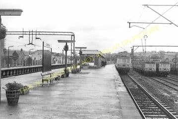 Airdrie South Railway Station Photo. Coatdyke - Clarkston. North British Rly (2)
