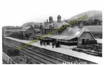 Akeld Railway Station Photo. Wooler - Kirknewton. Alnmouth to Coldstream. (2)