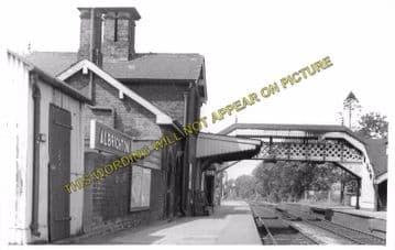 Albrighton Railway Station Photo. Codsall - Shifnal. Wellington Line. (1)