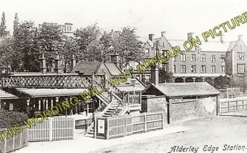 Alderley Edge Railway Station Photo. Chelford - Wilmslow. Sandbach Line. (2)