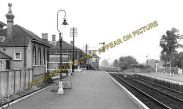 Aldershot North Camp Railway Station Photo. Farnborough - Ash and Guildford (1)..