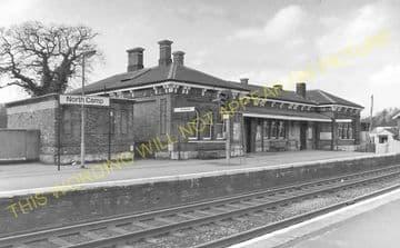 Aldershot North Camp Railway Station Photo. Farnborough - Ash and Guildford (11)