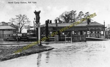 Aldershot North Camp Railway Station Photo. Farnborough - Ash and Guildford (2)