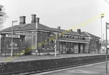 Aldershot North Camp Railway Station Photo. Farnborough - Ash and Guildford (9)