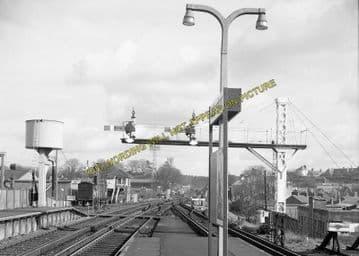 Aldershot Town Railway Station Photo.North Camp & Ash Vale - Farnham. L&SWR (14)