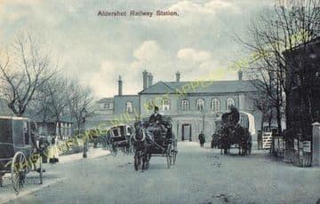 Aldershot Town Railway Station Photo.North Camp & Ash Vale - Farnham. L&SWR (21)