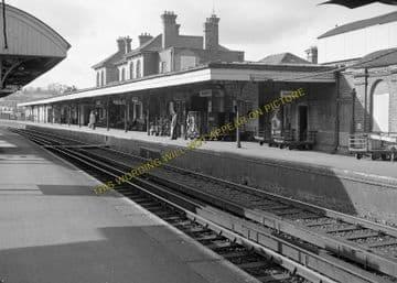 Aldershot Town Railway Station Photo.North Camp & Ash Vale - Farnham. L&SWR (6)