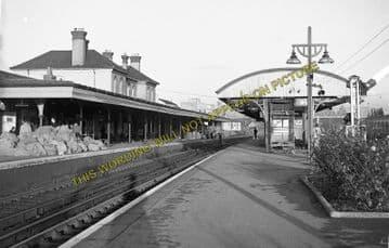 Aldershot Town Railway Station Photo.North Camp & Ash Vale - Farnham. L&SWR (7)