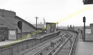 Alexandra Dock Railway Station Photo. Liverpool Overhead Railway. (2).