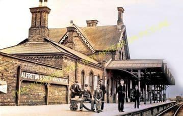 Alfreton & South Normanton Railway Station Photo. Pye Bridge - Westhouses. (6)