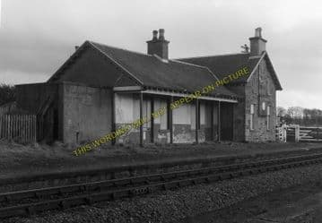 Allanfearn Railway Station Photo. Inverness - Dalcross. Golanfield Line. (5)