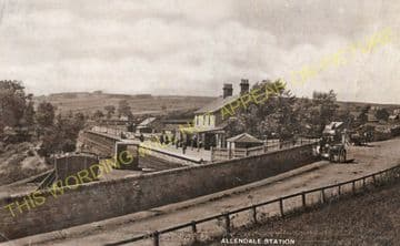 Allendale Railway Station Photo. Staward, Langley, Elrington and Hexham Line (9)