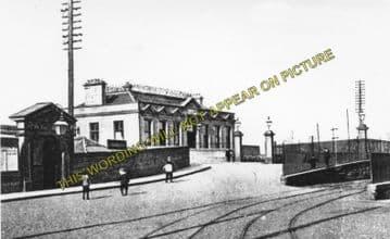 Alloa North Railway Station Photo. Cambus - Clackmannan. North British Rly. (2)