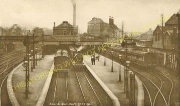 Alloa North Railway Station Photo. Cambus - Clackmannan. North British Rly. (3)