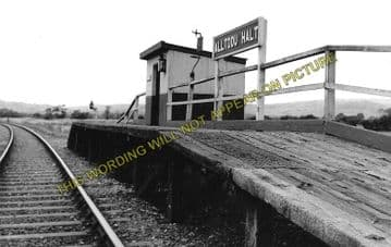 Alltddu Railway Station Photo. Tregaron - Strata Florida. Aberystwyth. (1)..