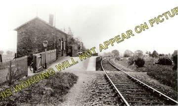Almeley Railway Station Photo. Eardisley - Lyonshall. Titley Line. GWR. (1)..