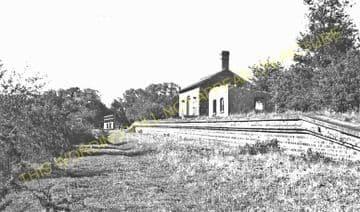 Almeley Railway Station Photo. Eardisley - Lyonshall. Titley Line. GWR. (2)