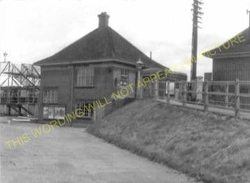 Alne Railway Station Photo. Tollerton - Raskelf and Easingwold Branch. (6).