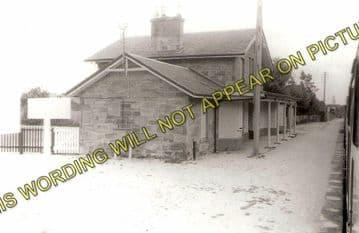 Alness Railway Station Photo. Novar - Invergordon. Dingwall to Delny Line. (1)..