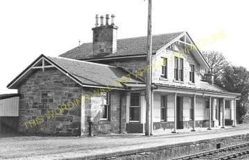 Alness Railway Station Photo. Novar - Invergordon. Dingwall to Delny Line. (6)