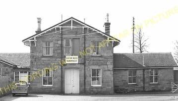 Alness Railway Station Photo. Novar - Invergordon. Dingwall to Delny Line. (8)