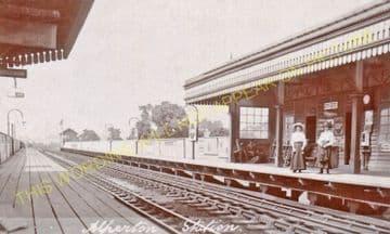 Alperton Railway Station Photo. Park Royal - Sudbury. Ealing to Harrow Line. (2)