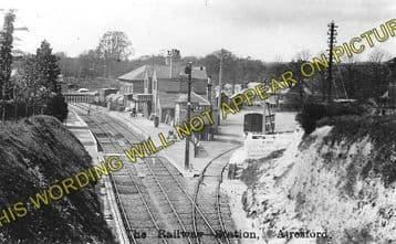 Alresford Railway Station Photo. Ropley - Itchen Abbas. Alton to Winchester (1)