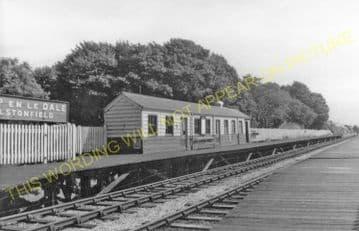 Alsop en le Dale Railway Station Photo. Hartington - Tissington. L&NWR. (3).