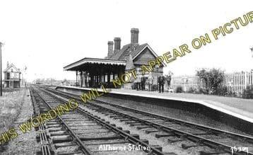 Althorne Railway Station Photo. Fambridge - Burnham-on-Crouch Line. (1)..