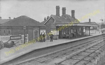 Althorne Railway Station Photo. Fambridge - Burnham-on-Crouch Line. (13)