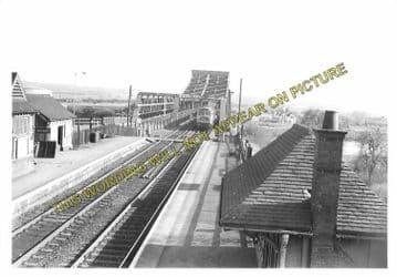 Althorpe Railway Station Photo. Crowle - Frodingham & Scunthorpe. GCR. (4).
