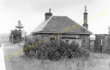 Altnabreac Railway Station Photo. Forsinard - Scotscalder. Georgemas Line. (16)