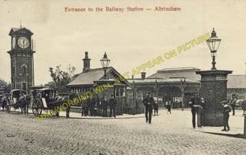 Altrincham & Bowdon Railway Station Photo. Hale - Timperley. MSJ&A. (16)