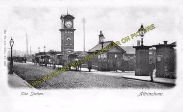 Altrincham & Bowdon Railway Station Photo. Hale - Timperley. MSJ&A. (7)
