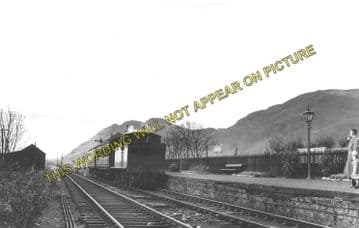 Alva Railway Station Photo. Menstrie and Cambus Line. North British Railway. (1)