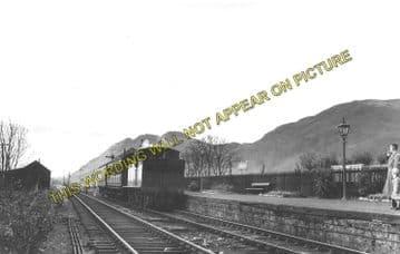Alva Railway Station Photo. Menstrie and Cambus Line. North British Railway. (1)