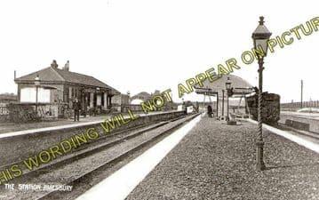 Amesbury Railway Station Photo. Bulford - Newton Tony. Salisbury Line. L&SWR (2)