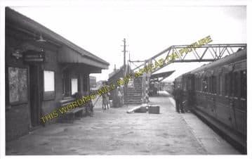 Amesbury Railway Station Photo. Bulford - Newton Tony. Salisbury Line. L&SWR (5)