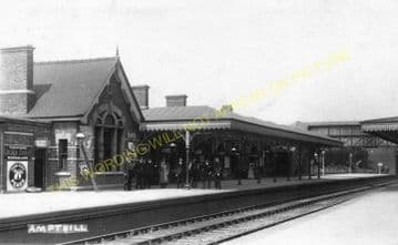 Ampthill Railway Station Photo. Flitwick - Bedford. Midland Railway. (2)