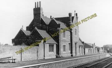 Ancaster Railway Station Photo. Honington - Rauceby. Barkston to Sleaford. (1)